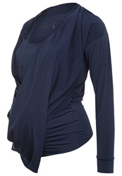Bellybutton Bozena Long Sleeved Top Peacoat Dark Blue