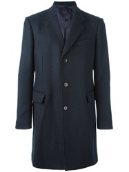 Dondup Flap Pockets Mid Coat Blue