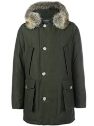 Woolrich Fur Hooded Parka Green