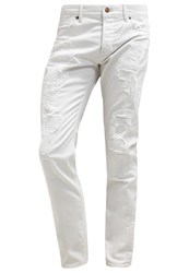 7 For All Mankind Larry Slim Fit Jeans White Denim