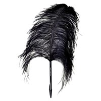 Maison Martin Margiela Ostrich Feather Pen Black