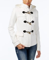 Celebrity Pink Hooded Toggle Peacoat Ivory