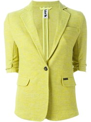 Bark Single Breasted Blazer Yellow And Orange