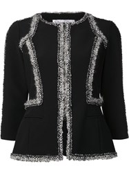 Oscar De La Renta Boucle Trimmed Jacket Black