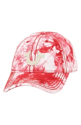 True Religion Marble Dye Baseball Cap True Red