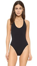 Proenza Schouler Solids Cross Back Maillot Black