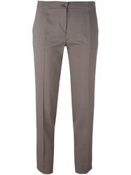 Etro Cropped Trousers Grey