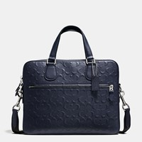 Coach Hudson 5 Bag In Signature Crossgrain Leather Silver Midnight