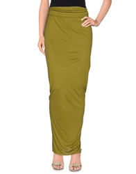 Givenchy Long Skirts Military Green