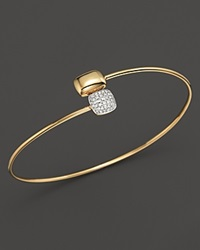 Kc Designs Diamond Square And Rectangle Bangle In 14K Yellow Gold White Gold