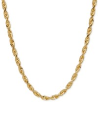 Macy's Rope Chain Necklace In 10K Gold Yellow Gold