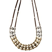 Mhart Multi Spike Necklace Gold