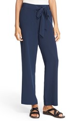 Tibi Women's Silk Cargo Pants Midnight Navy