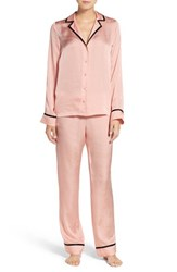 Chelsea 28 Women's Chelsea28 Notch Collar Pajamas Pink Wood