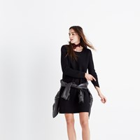 Madewell Button Back Sweater Dress True Black