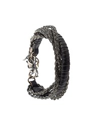 Emanuele Bicocchi Braided Chain Bracelet Black