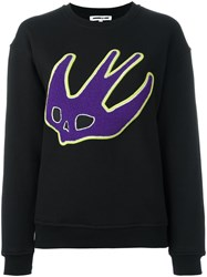 Mcq By Alexander Mcqueen Swallow Applique Sweatshirt Black