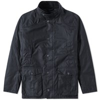 Barbour Leeward Wax Jacket Blue