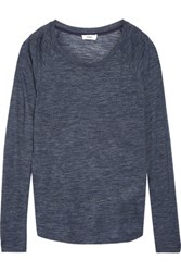 Vince Marled Stretch Jersey Top Storm Blue