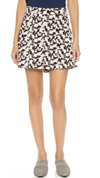 Derek Lam Camo Box Pleat Skirt Redwood Multi