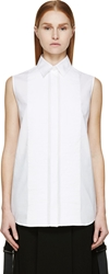 Mcq By Alexander Mcqueen White Pleated Sleeveless Blouse