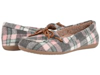 Vionic Cozy Ida Slipper Pink Plaid Women's Flat Shoes