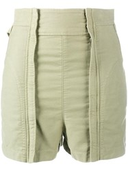 Chloe High Waisted Shorts Green