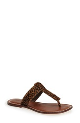 Bernardo Footwear 'Mimi' Thong Sandal Women Cheetah Haircalf