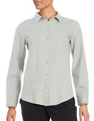 Eileen Fisher Button Front Blouse Pearl
