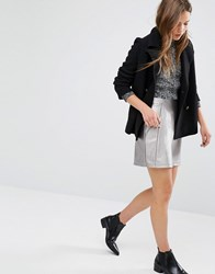 New Look Metallic A Line Mini Skirt Silver