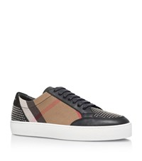 Burberry Salmond Studded Check Sneakers Unisex