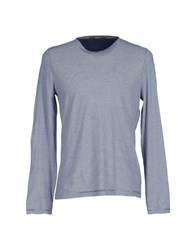 Kangra Cashmere Topwear T Shirts Men Dark Blue