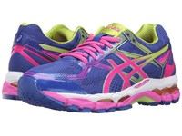 Asics Gel Surveyor 5 Blue Pink Glow Neon Lime Women's Running Shoes