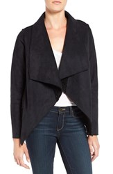 Velvet By Graham And Spencer Women's 'Lux' Reversible Faux Shearling Drape Front Jacket