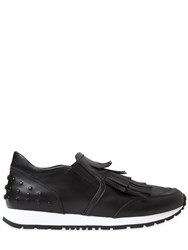 Tod's 20Mm Fringed Leather Slip On Sneakers