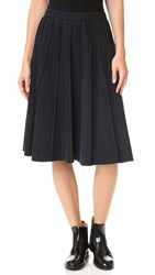 Marc Jacobs Pleated Panel Skirt Gingham