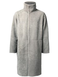 H Beauty And Youth High Neck Coat Grey