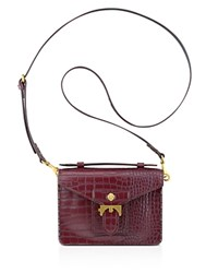 Anne Klein Small Serena Embossed Top Handle Satchel Garnet