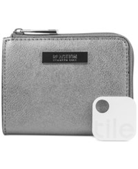 Kenneth Cole Reaction Top Zip Coin Purse With Tracker Silver