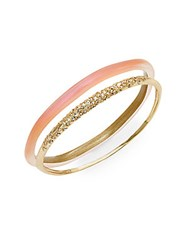 Alexis Bittar Lucite And Crystal Pave Bangle Set Melon