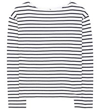 Wood Wood Adrien Striped Cotton Sweater White