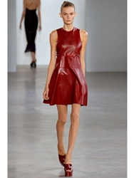Calvin Klein Shiny Nappa Leather Red