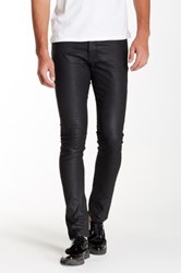 The Kooples Coated Denim Fittted Jean Black