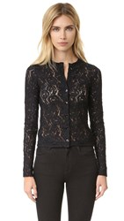 Fuzzi Lace Cardigan Black