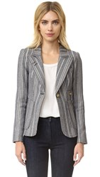 Smythe Tweed Duchess Blazer Grey Stripe