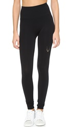 Lucas Hugh Technical Knit Leggings Black