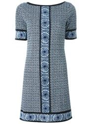 Michael Michael Kors Tile Print Shift Dress Blue