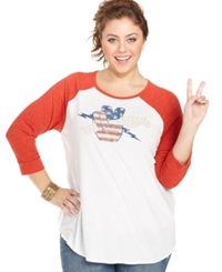 Lucky Brand Plus Size Guitar Print Tee