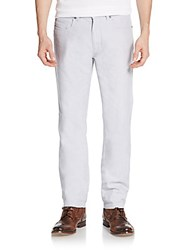 Saks Fifth Avenue Pastel Straight Leg Jeans Light Grey