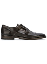 Officine Creative Classic Monk Shoes Brown